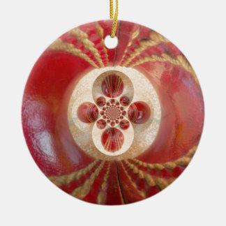 Schönes Vintages grafisches ledernes Kricket Rundes Keramik Ornament