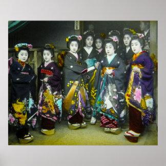 Schönes Vintages magische Laternen-Dia Poster