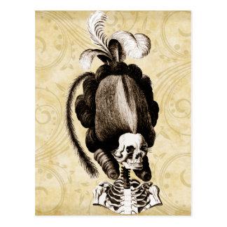Schönes Vintages Skelett Postkarten