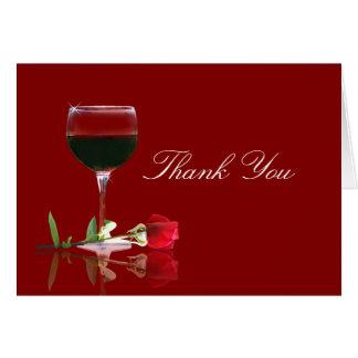 Schönes Wein-Land danken Ihnen Grußkarte