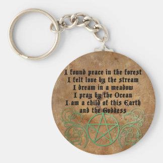 Schönes Wiccan Gedicht Schlüsselanhänger