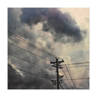 Schönes Wolken-Natur-Himmel-Foto Leinwanddruck
