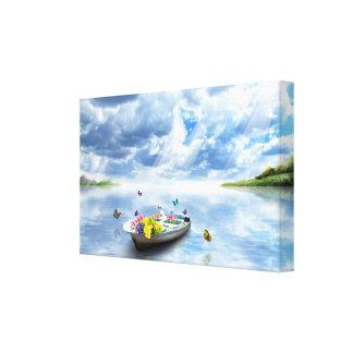 Schönheit der Natur - See-Boots-Schmetterlinge Leinwanddruck