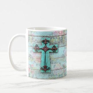 Schönheit für Aschen-QuerShabby Chic-christliche Kaffeetasse