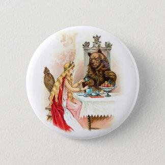 Schönheit im Rosa und im Tier Runder Button 5,7 Cm