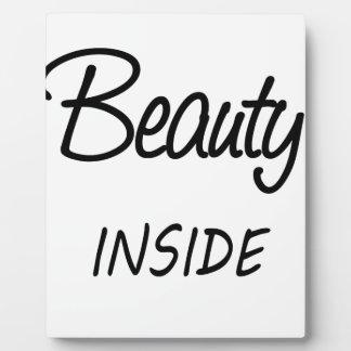 Schönheit nach innen fotoplatte