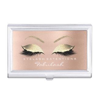 Schönheit peitscht Make-upStylist-Rosen-Goldrosa Visitenkarten Dose