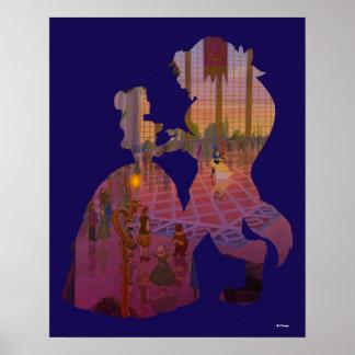 Schönheit u. das Tanzen des Tier-| Silouette Poster