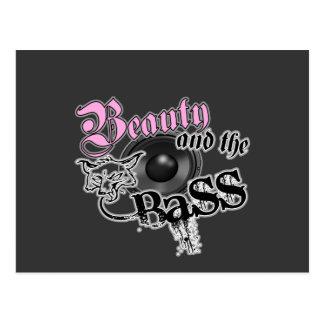 Schönheit und die BASS-Trance-Electro techno Rave Postkarte