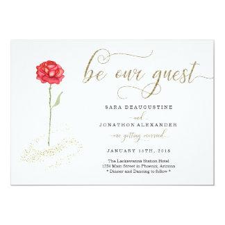 Schönheit und die Tier-Hochzeits-Einladung Karte