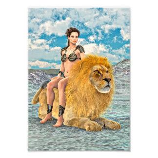 Schönheit und Löwe Photodrucke