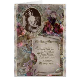 Schönheits-Epochenart Blumengeburtstags-Karte Karte