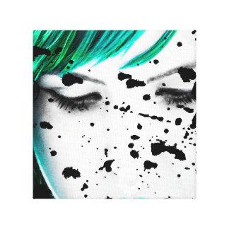 Schönheits-Frauen-nahes hohes künstlerisches Gespannter Galerie Druck