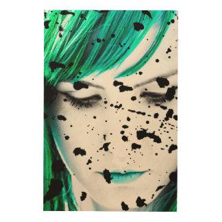 Schönheits-Frauen-nahes hohes künstlerisches Holzleinwände