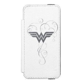 Schönheits-Glücks-Logo der Wunder-Frauen-  Incipio Watson™ iPhone 5 Geldbörsen Hülle