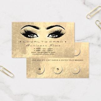 Schönheits-Peitsche Extesion Goldmake-up der Visitenkarte