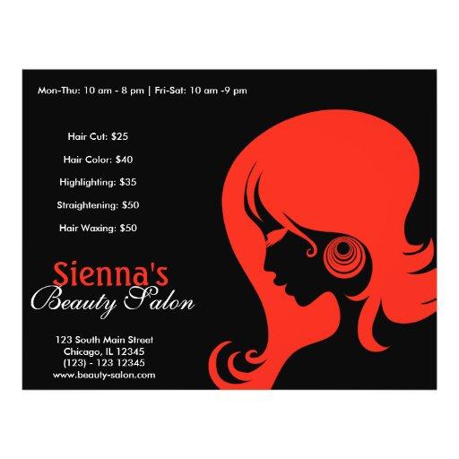 Schönheits-Salon (Firebrick) Personalisierte Flyer