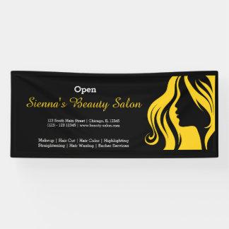 Schönheits-Salon (Gelb) Banner