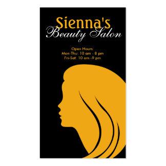 Schönheits-Salon (Gold) Visitenkarten