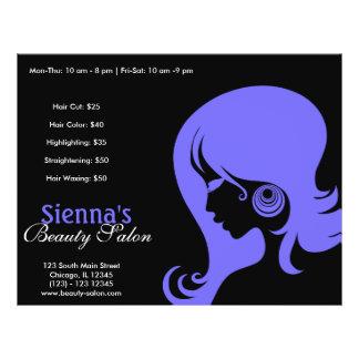 Schönheits-Salon (helles Schiefer-Blau) 21,6 X 27,9 Cm Flyer