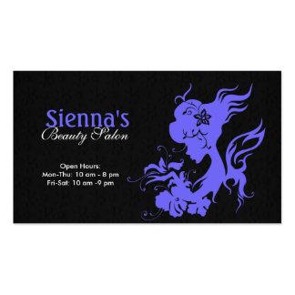 Schönheits-Salon (helles Schiefer-Blau) Visitenkarten Vorlage