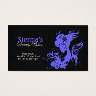 Schönheits-Salon (helles Schiefer-Blau) Visitenkarten