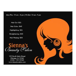 Schönheits-Salon (orange) 21,6 X 27,9 Cm Flyer