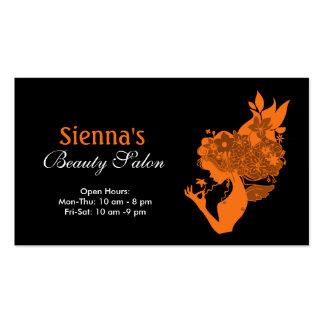 Schönheits-Salon (orange) Visitenkarten