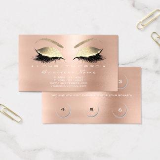 Schönheits-Salon-Peitschen-Rosen-Rosa-Gold der Visitenkarte