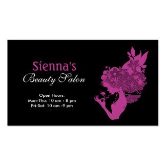 Schönheits-Salon (Pflaume) Visitenkarten
