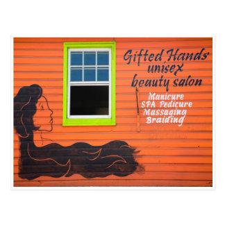 Schönheits-Salon Postkarte