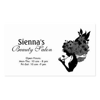Schönheits-Salon (Schwarzes) Visitenkarten