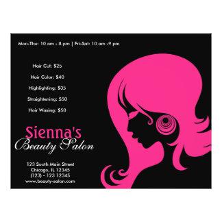 Schönheits-Salon (tiefrosa) Flyer