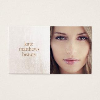 Schönheits-Salon und Wellness-Center-weiße Visitenkarten