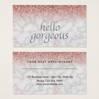 Schönheits-Salon-Verabredungs-hallo herrliches Visitenkarte