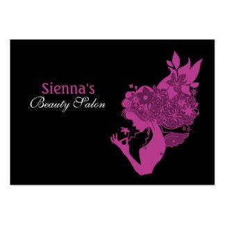 Schönheits-Salon-Verabredungs-Karte (Pflaume) Visitenkartenvorlagen