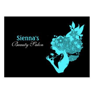 Schönheits-Salon-Verabredungs-Karte (Türkis) Jumbo-Visitenkarten