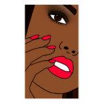 Schönheits-Salon-Visitenkarten