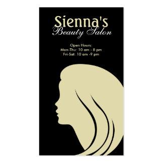 Schönheits-Salon (Zitrone Chiffon-) Visitenkarten