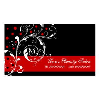 Schönheits-Salonblumenrolleblattschwarzes rot