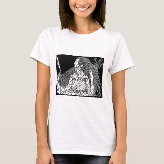 Schönheits-Shirtillustration. public domainkunst T-Shirt