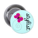 Schönheits-Stylist-Knopf Button
