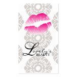 Schönheits-Visitenkarte-Lippenmake-uprosa