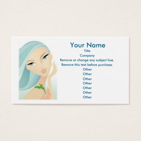 Schönheits-Visitenkartegewohnheitsschablone Visitenkarten