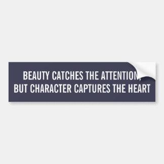 Schönheitsfang-Aufmerksamkeitscharakter fängt Herz Autoaufkleber