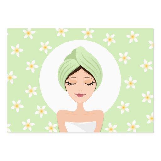 Schönheitssalon oder Wellness-Centergeschäftskarte Jumbo-Visitenkarten