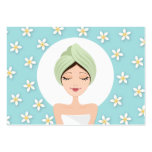 Schönheitssalon oder Wellness-Centergeschäftskarte Visitenkarten
