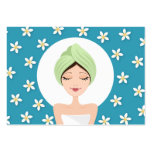 Schönheitssalon oder Wellness-Centergeschäftskarte Visitenkartenvorlage