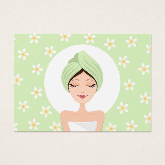 Schönheitssalon oder Wellness-Centergeschäftskarte Visitenkarte