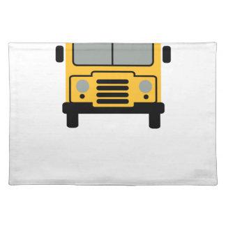 school bus stofftischset